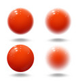 realistic red ball pink blurred glossy spheres vector image vector image