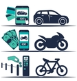 Rental car and other transport banners vector image vector image