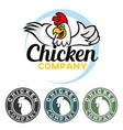 rooster mascot logo vector image vector image
