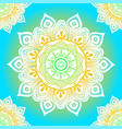 Seamless ethnic pattern with floral motives