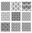 seamless patterns set vector image