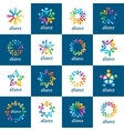 set logos union people vector image