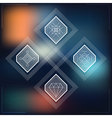 Set of geometric hipster shapes blur vector image vector image