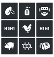 Set of Virus Icons Respiratory vector image vector image