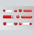 set red modern buttons vector image vector image
