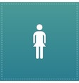 Simple woman icon on background vector image vector image