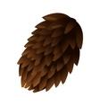 single pine cone icon vector image