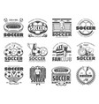 soccer and football sport icons vector image vector image