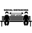 social distancing keep apart stick figure vector image