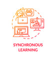 synchronous learning concept icon vector image