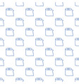 toilet paper seamless pattern in outline vector image vector image