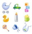 Toys and accessories vector image