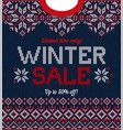 ugly sweater season winter sale poster knitted vector image