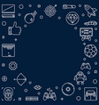 video game concept outline frame linear vector image vector image