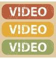 Vintage VIDEO stamp set vector image vector image