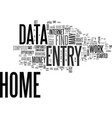 why data entry from home is so attractive text vector image vector image