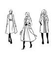 winter coat fashion vector image vector image