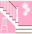 with hallway stairs in flat vector image