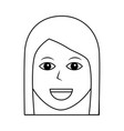woman happy character female icon vector image vector image