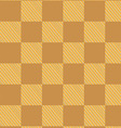 yellow brown checked fabric seamless pattern vector image vector image