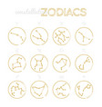 zodiac constellations - set twelve astrological vector image