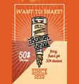 color vintage barmen school banner vector image