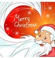 Cute cartoon Santa Claus on Christmas background vector image