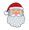 cute christmas santa claus happy celebration vector image