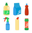 home cleaning essentials set of laundry detergent vector image