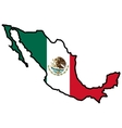 Map in colors of Mexico vector image