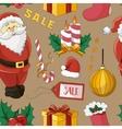 Christmas sale set pattern vector image