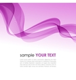 Abstract colorful background violet smoke wave vector image vector image