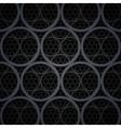 Abstract dark grey metal circles background vector image vector image