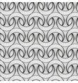 Abstract seamless pattern with 3D lined half-moon vector image vector image