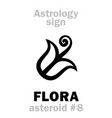 astrology asteroid flora vector image vector image