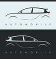 automotive car logo design black and grey sports vector image vector image