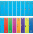 background of colorful school lockers vector image vector image