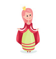 beautiful cartoon princess girl character in a vector image vector image