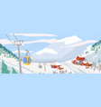 beautiful ski resort flat vector image