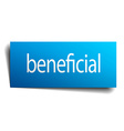beneficial blue square isolated paper sign on vector image vector image