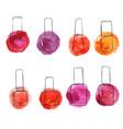 bottles of nail polish vector image vector image