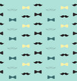 bow tie and mustache seamless pattern father s vector image vector image