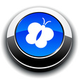 Butterfly 3d round button vector image vector image