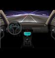 car interior night vector image vector image