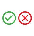 check and cancel button yes and no symbol