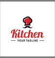 chef hat with word logo template vector image