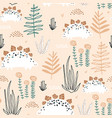 childish seamless pattern with stegosaurus and vector image vector image