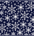 christmas pattern seamless with snowflakes vector image vector image