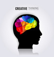 creative mind vector image vector image