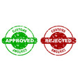 customs approved and rejected rubber stamp seal vector image vector image